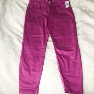 Celebrity Pink Mid-Rise Bright Pink Skinny Jeans